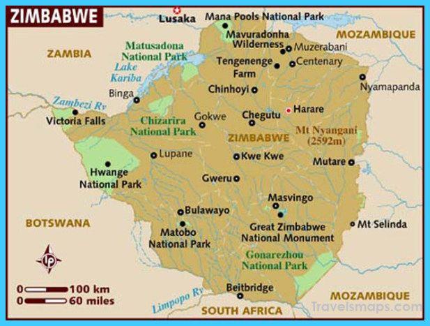 Map of Zimbabwe - TravelsMaps.Com