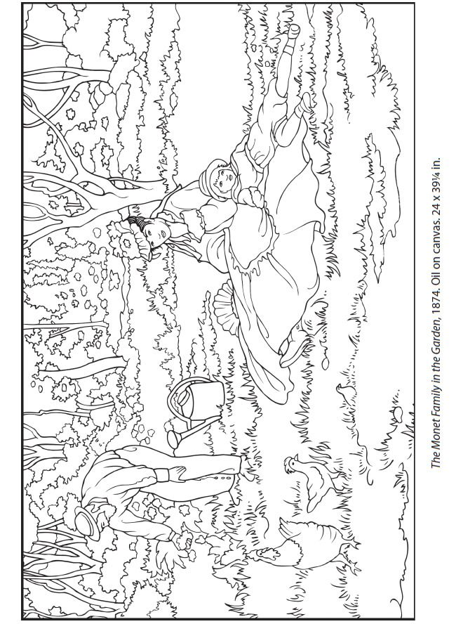 Welcome to Dover Publications  Dover Masterworks: Color Your Own Manet Paintings