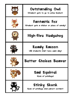 Pre-K Paparazzi: Owl Theme Behavior Chart - (and my FIRST post)