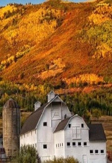 FARMHOUSE – BARN – vintage early american barn commonly used for storing farm equipment, storage of harvested crops, or providing shelter for livestock, here is a barn in amber hills, utah.