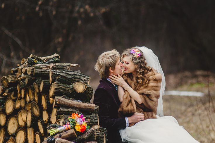 Лена и Стас: радужная свадьба в холодном феврале