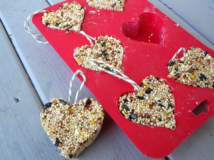 Birdseed feeder ornaments craft projects kidsValentine'S Day, Valentine Crafts, Crafts Ideas, Valentine Day Crafts, Birds Feeders, Bird Feeders, Kids Crafts, Preschool Crafts, Peanut Butter