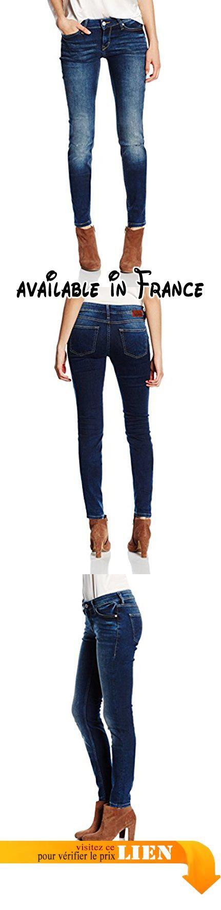 Mustang Jasmin Jeggins, Jeans Femme, Bleu-Bleu Foncé Usé (586), 28 W/32 L.  #Apparel #PANTS