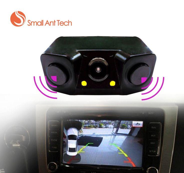 Buy online US $19.83  Auto Car Parktronic Video Parking Sensor Bi Bi Alarm with Rear camera + 2 Sensor Video Display Indicator Car Reverse Sensor