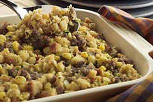 Crushed buttery crackers replace the bread in this easy savory stuffing flavored with walnuts, mushrooms and poultry seasoning.