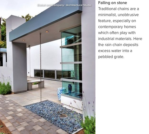 Take a Designer Approach to Your Downspout...          These cool, contemporary and creative drains will maintain your home's good looks and keep the water flowing.        http://www.houzz.com/ideabooks/77190227/list/take-a-designer-approach-to-your-downspout