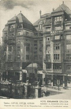 Budapest II. kerület | Frankel Leó 38-40 Esplanade Szálloda