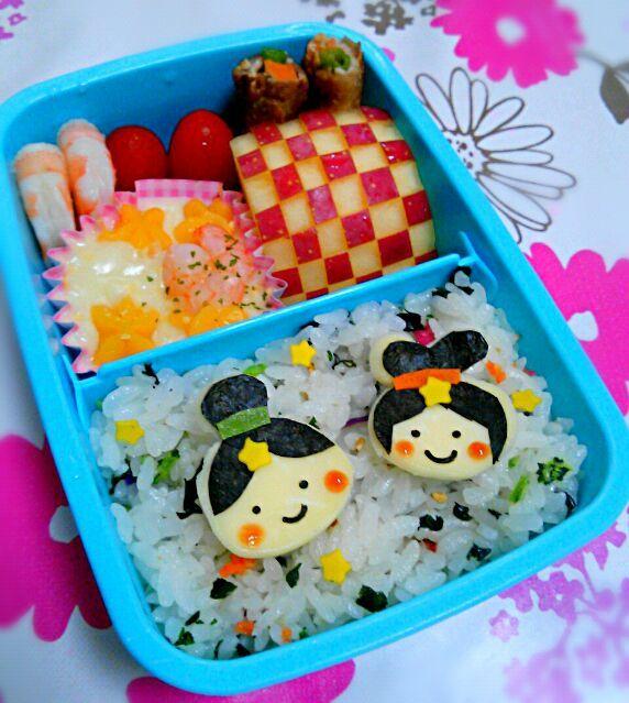 國澤志保子's dish photo 七夕弁当 | http://snapdish.co #SnapDish #キャラ弁 #七夕
