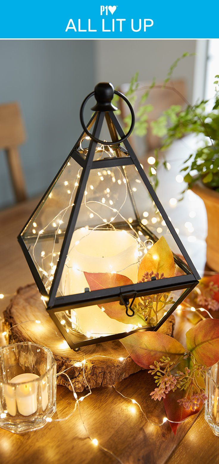 Start With Glimmer Strings And Our Gl Lantern You Ve Have The Makings Of A Special Centerpiece For Your Candlelight Dinner At Home