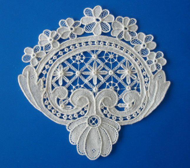 Needle lace by Catherine Barley