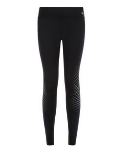 Legging de sport noir à rayures croisées | New Look
