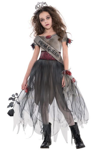... Halloween Costume Girls Horror School Zombie Dead Prom Queen Sash