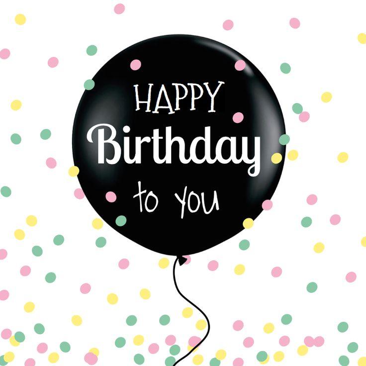 Leuke verjaardagkaart met ballon en gezellige confetti!l Verkrijgbaar bij #kaartje2go voor € 1,89