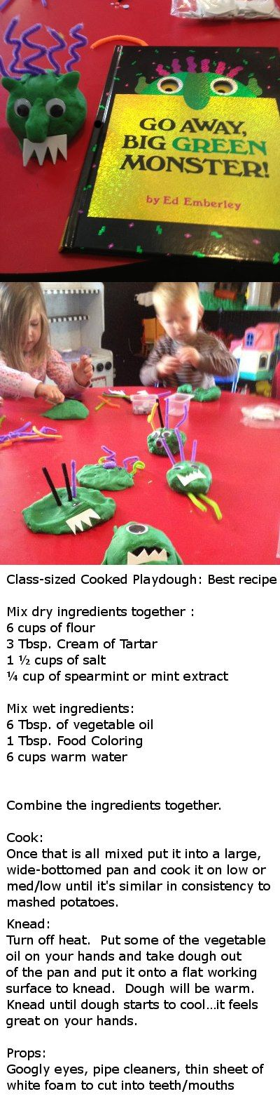 Book w/ Playdough activity...best playdough recipe ever!!