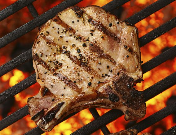 Cuban mojo sauce grilled pork chop recipe
