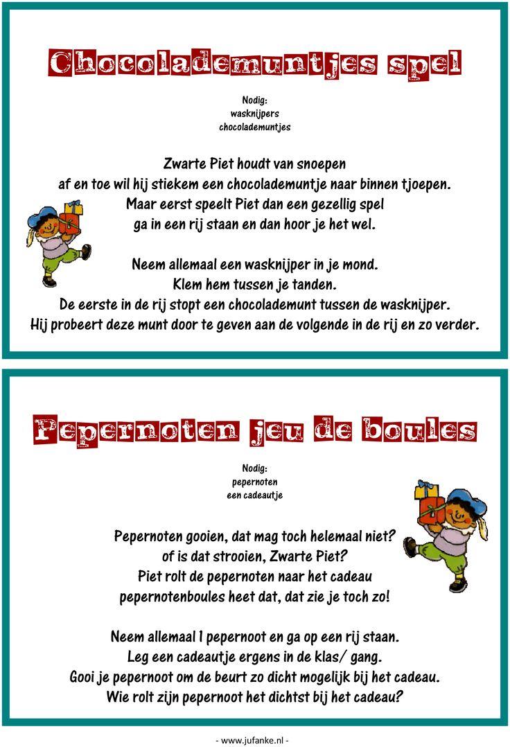 Feest: spelletjesmiddag Sinterklaas 6/9