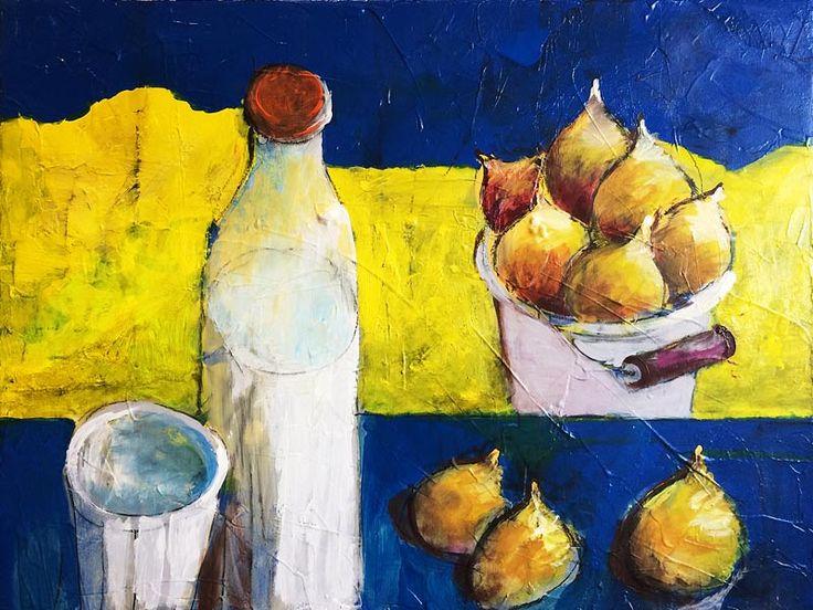 Stillleben mit Früchten, 60 x 80 cm, 2016, Oxana Mahnac