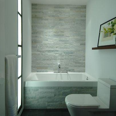 Bagno in pietra grigia e bianco