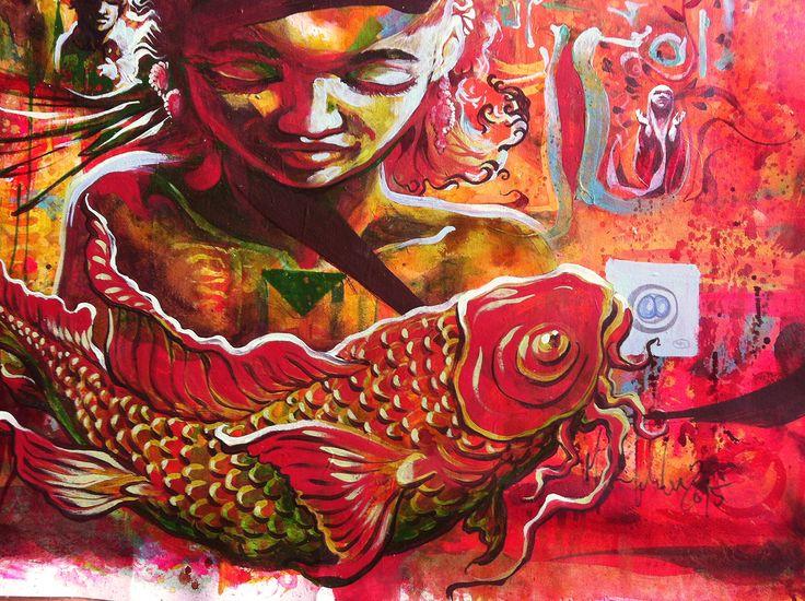 #mariankretschmer #artwork #spiritual #esoteric #Illustration #painting #community #collective #alliance #communion #raise #rise #mankind #human #sleepwalker #handmade #emotional #cry #rest #flow #generation #next #culture #conflict #ritual #fishes # #mask #bondage #animals