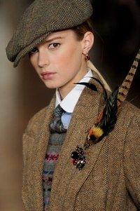 Ralph Lauren women's runway collection for Fall 2012.