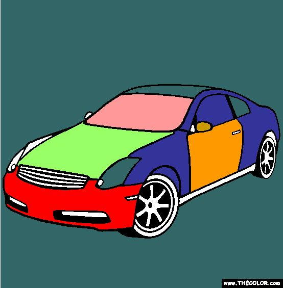 Infiniti G35 Coupe Coloring Page