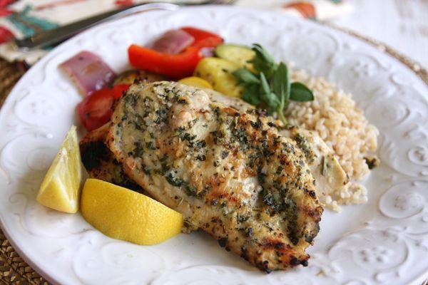 Lemon-Garlic Herb Rubbed Chicken: Dinner, Fun Recipes, Chicken Recipe, Rubbed Chicken, Herbs, Food, Lemon Garlic Herb