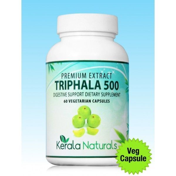 Kerala Naturals Triphala Vcaps For Digestion Related Problems & Premature Aging