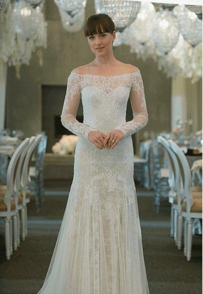 ana's wedding dress | fifty shades | pinterest | 50 shades freed