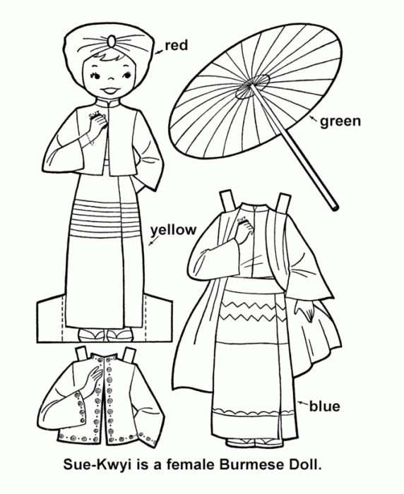 children of the world burma girl paper doll cut out sheet collection of international paper dolls that provide a range of culturaltraditional