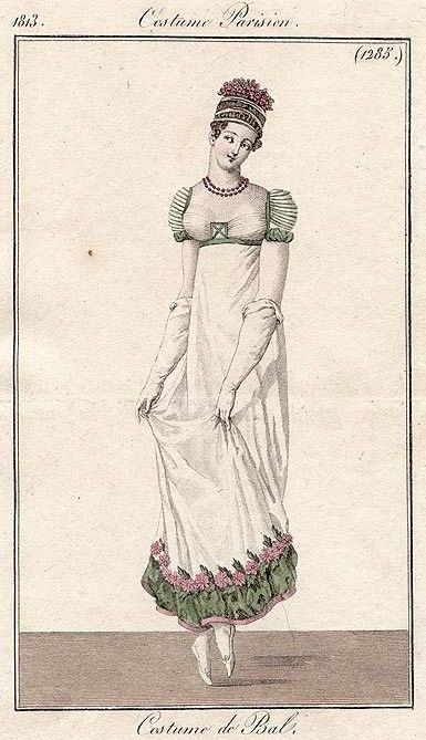 Costume Parisien 1813, ballgown, front