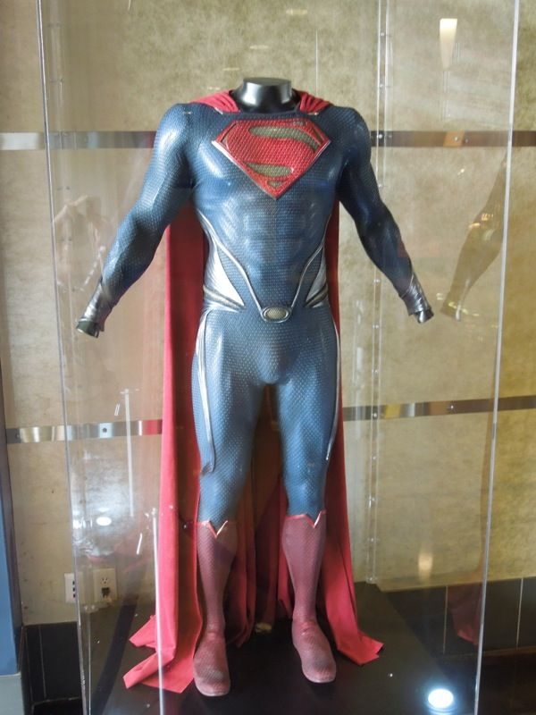 Man of Steel Superman suit on display...