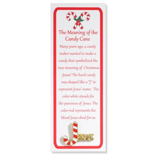 Story of the candy cane lapel pins with bookmark more candy canes cane