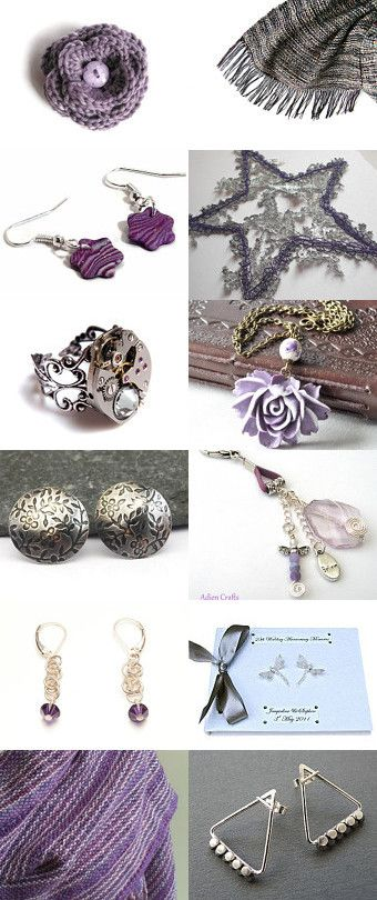 Purple and Silver by Amiee Bowker on Etsy--Pinned with TreasuryPin.com