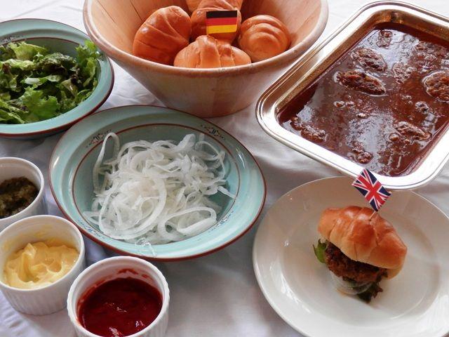 自分で作るハンバーガー 神戸ホテル フルーツ・フラワー