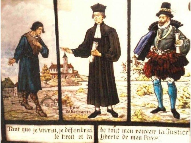 St Yves entre le riche et le pauvre