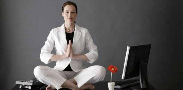 Tips for yoga at your desk.... My co-workers would die if they walked in on my like this!!!