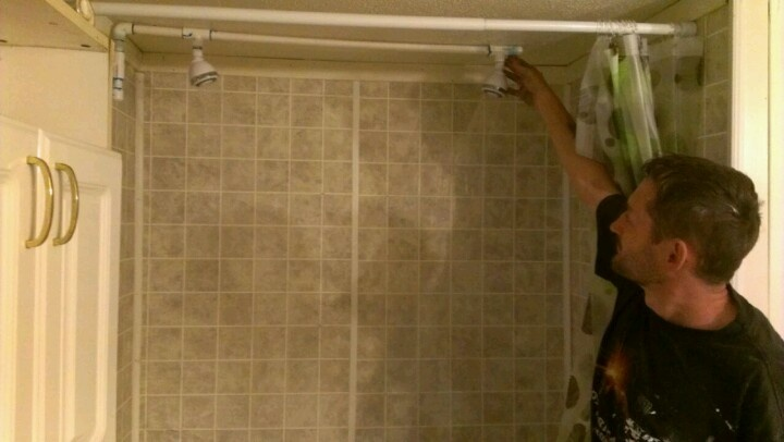 Rather double shower head adult whom can