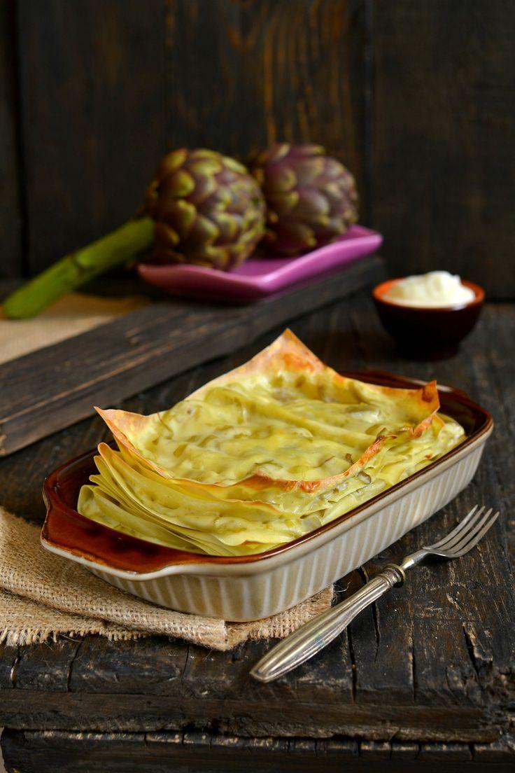 facili e veloci pronte in 15 minuti #Lasagne di #Carciofi CREMOSISSIME  Ultra_Gustose - #Primi #Piatti #pasta #ricette #recipes #recipe #recipeoftheday #giallozafferano #food #tasty