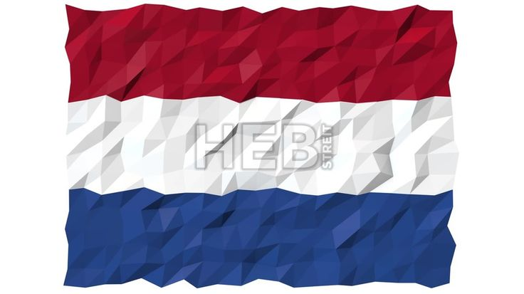 Flag of Bonaire, Sint Eustatius and Saba 3D Wallpaper Animation, National Symbol, Seamless Looping Footage... ... by #Hebstreit