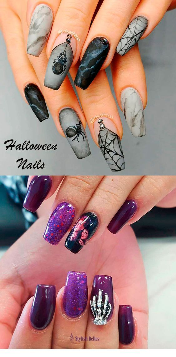 The Best Halloween Nail Designs in 2018 – Miladies.net