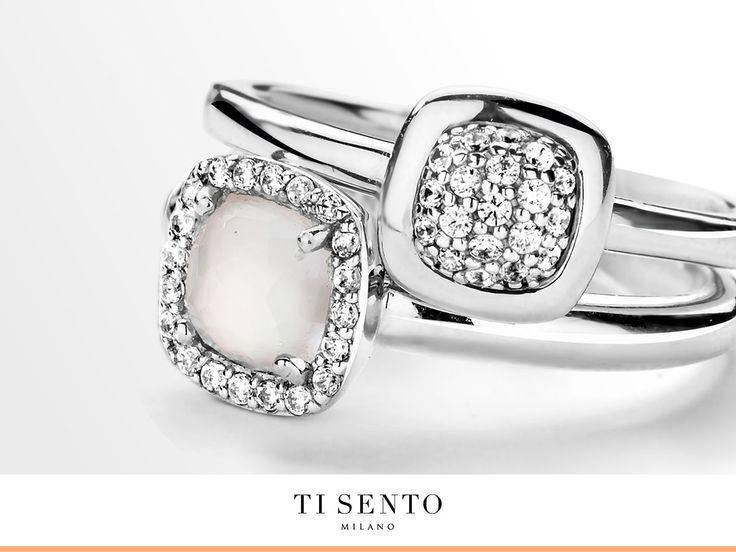 Inspired by our ultimate classic Ti Sento ring… This beautiful 2-in-1 ring is this seasons must have.