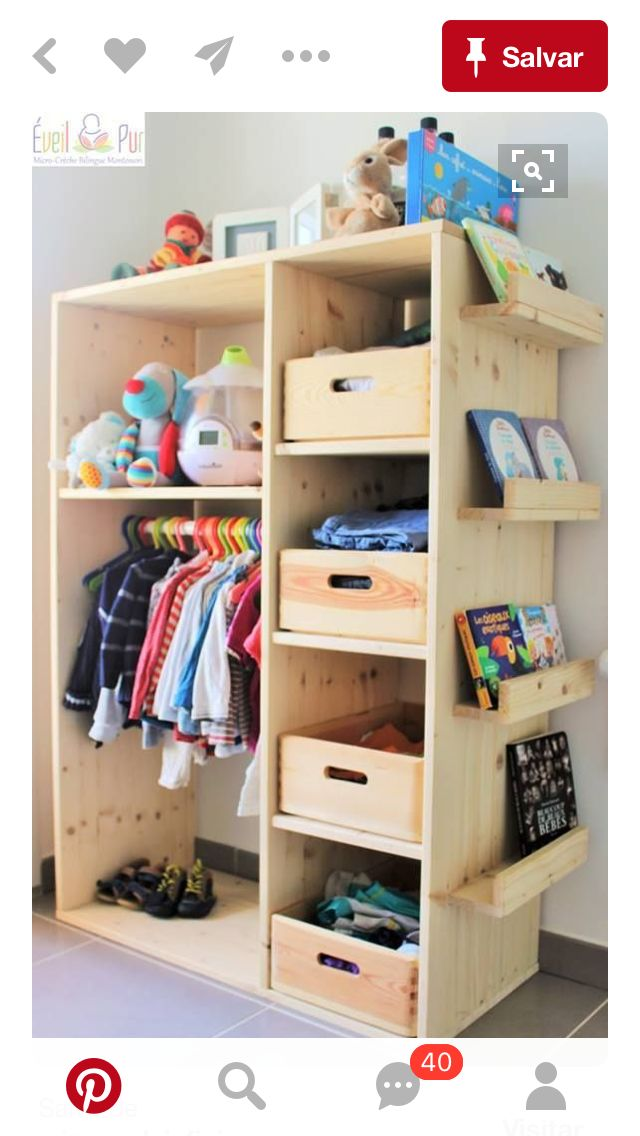 Kid size open wardrobe