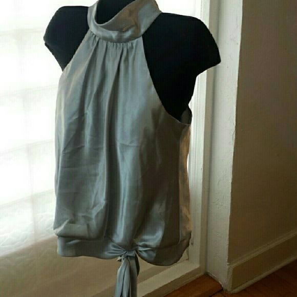 Alex Evenings  silver top sz L Bundled for BiBi  missing one eye on neck easy fix Alex Evenings  Tops Blouses