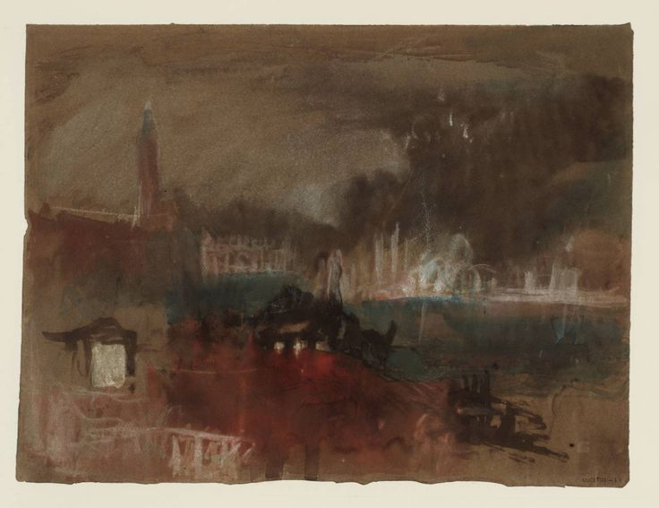 Happy November 5th! Joseph Mallord William Turner 'Venice: Fireworks on the Molo', 1840
