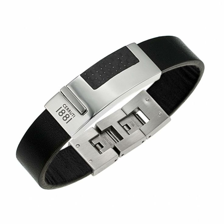 Men leather Urbano Casual black bracelets - Cerruti 1881