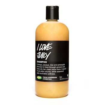 You don't have to battle oily locks by washing it excessively. You just need effective, deep cleansing ingredients. Start a love affair with the mighty fruit cocktail of I Love Juicy shampoo. Fresh fruit juices of pineapple, mango and kiwi are slightly acidic and help to mop up excess sebum (oil) produced by the scalp. With sea salt for volume and seaweed extract to soften you're left with squeaky clean hair and scalp, unbelievable shine and touchably soft tresses. Oily hair? It's a thing…