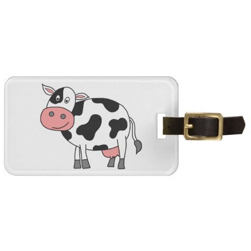 Cute Cow Tags For Luggage