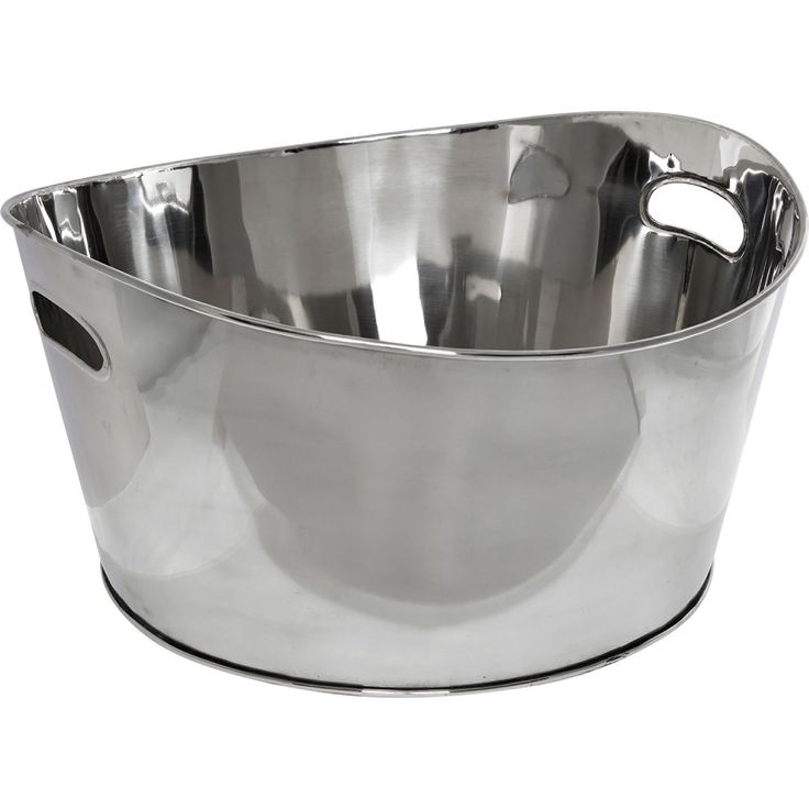Large Silver Tone Steel Tub - Bar & Glassware - Cookware & Dining - Home - TK Maxx
