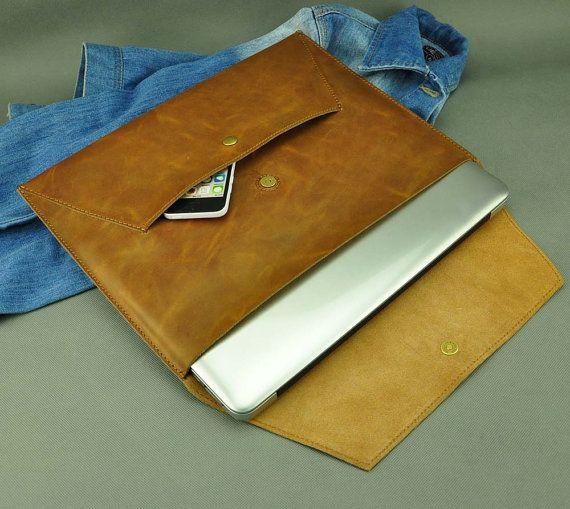 Leather Macbook Pro 13.3 sleeve Macbook 13 sleeve by ZzzSun
