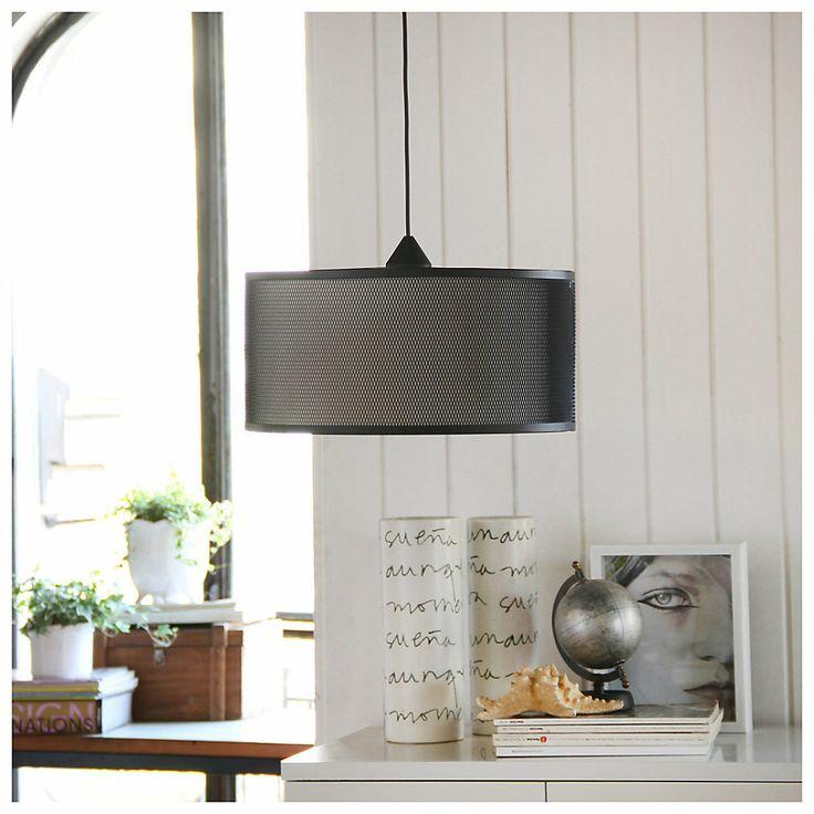 LAMP COLGAR METALICA 1L NEGRA-Sodimac.com